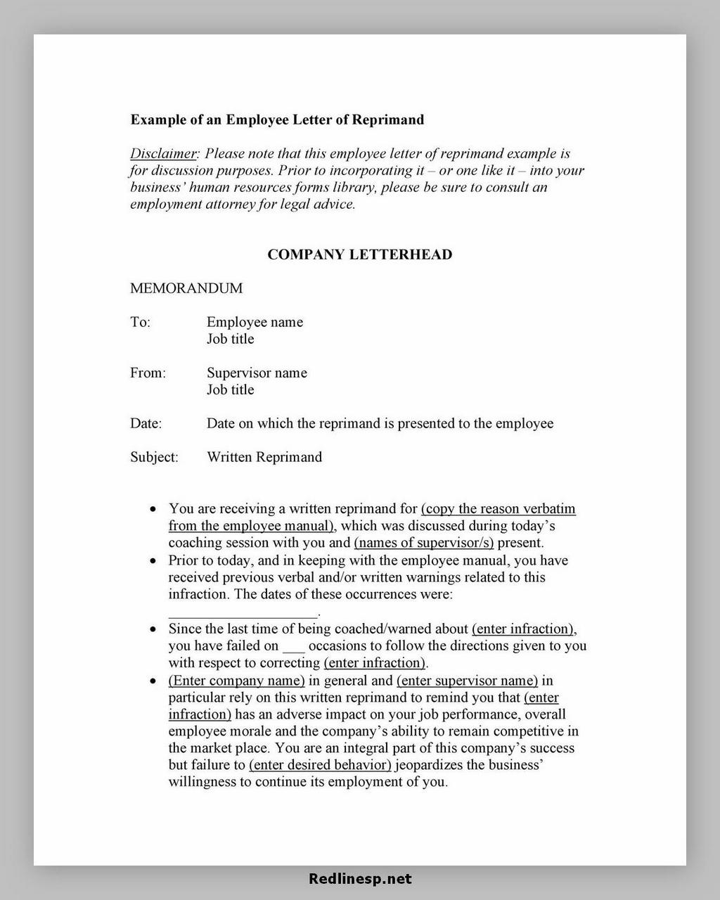 letter of reprimand 01