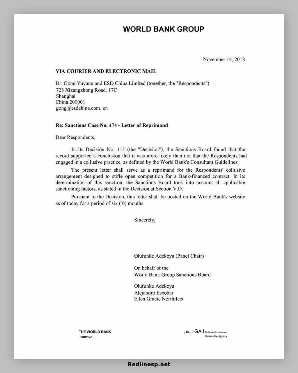 letter of reprimand 03
