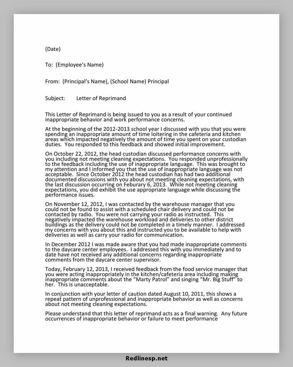 letter of reprimand 08