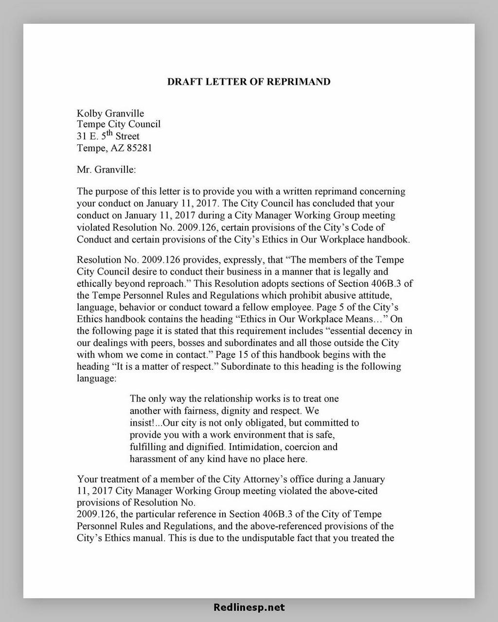 letter of reprimand 10