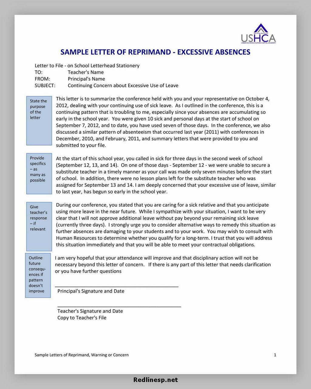 letter of reprimand 16