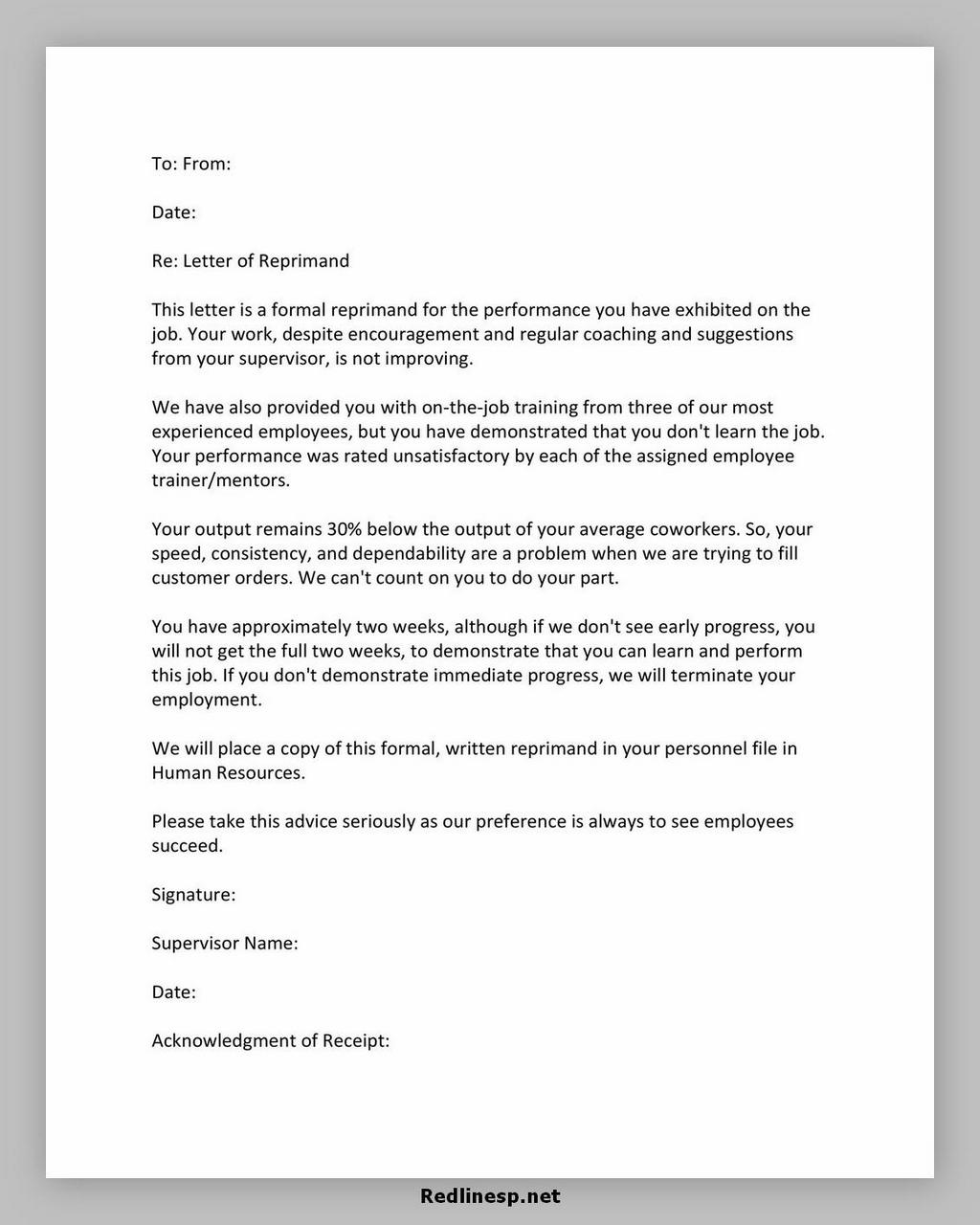 letter of reprimand 19