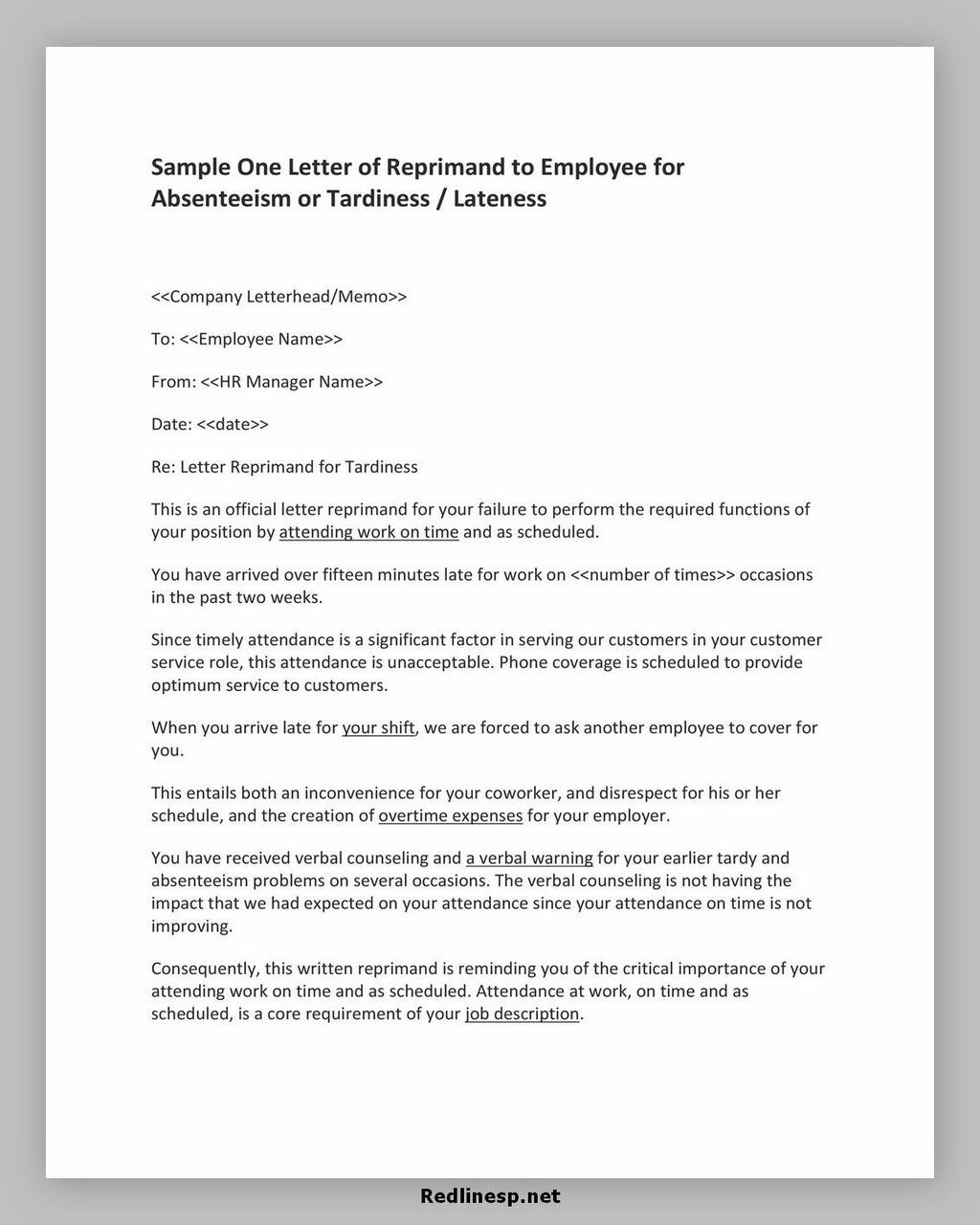 letter of reprimand 22