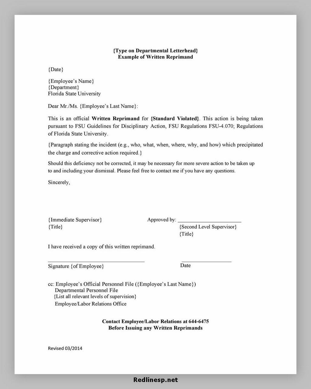 letter of reprimand 33
