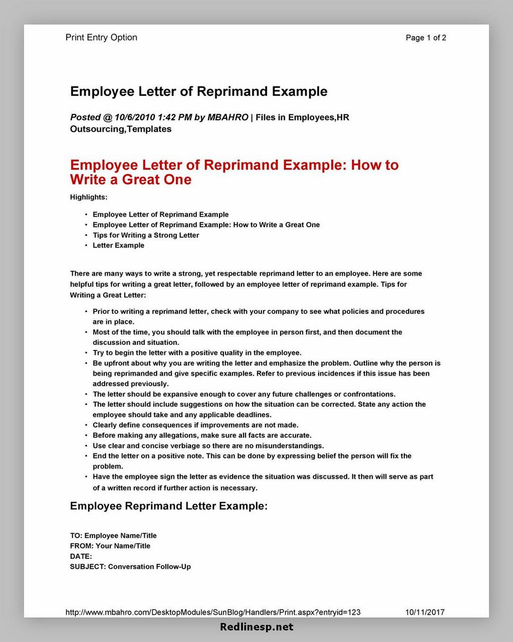 letter of reprimand 37