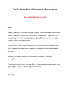 Rejection Letter For Job 23