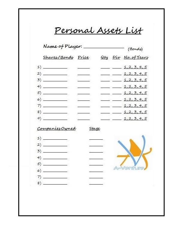 personal asset list 03