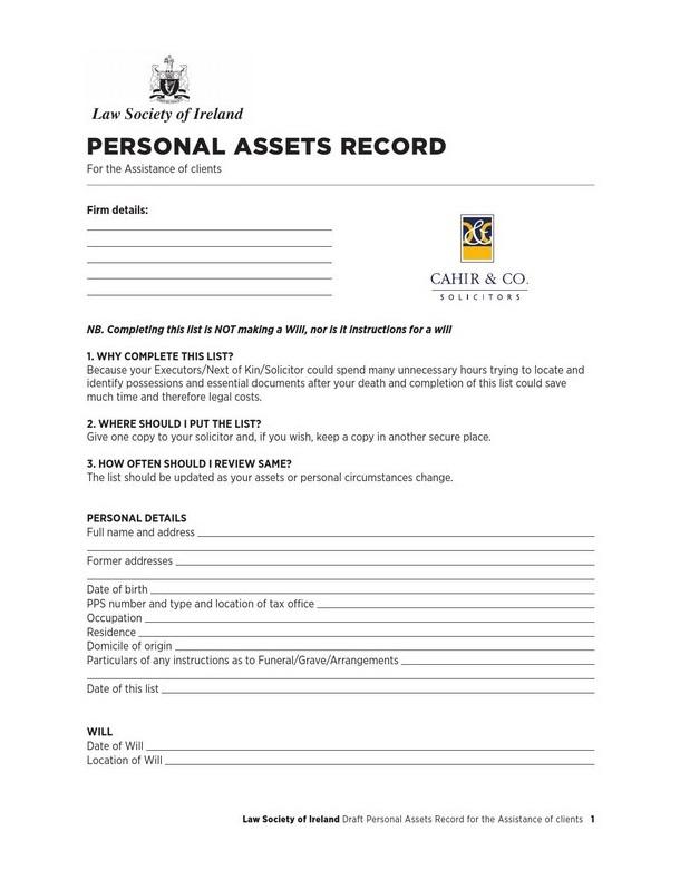 personal asset list 04