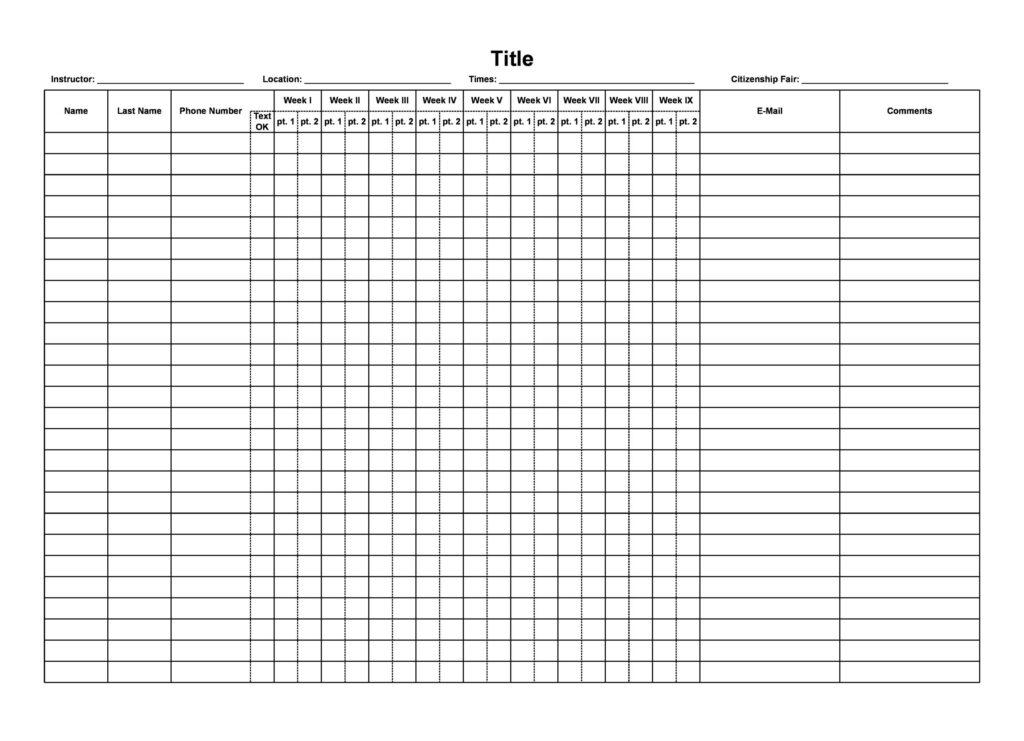 Attendance Sheet Excel