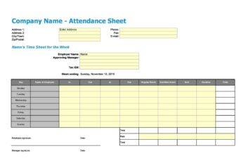 Attendance Sheet Template 07