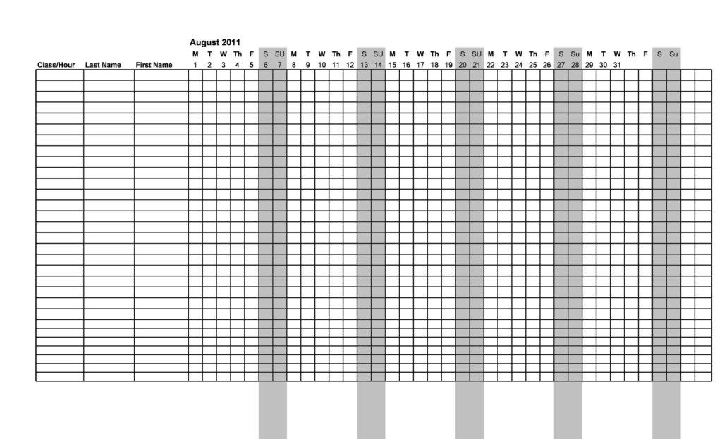 Attendance Sheet Template 16