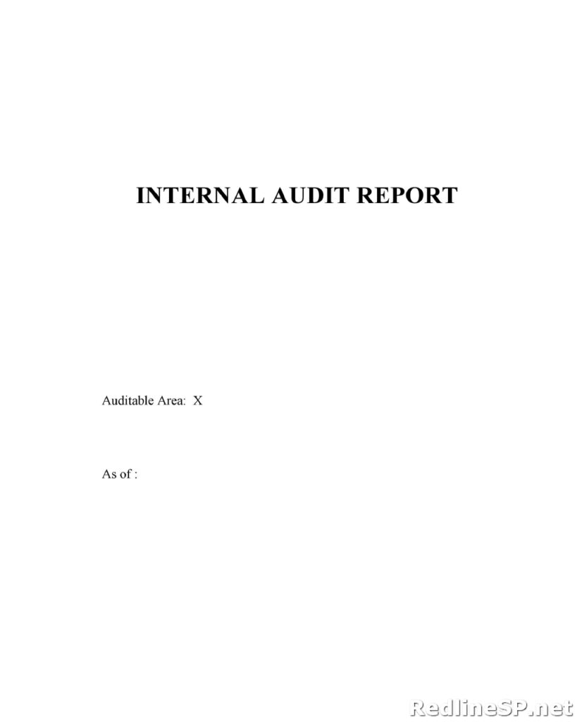 Audit Report Template 33