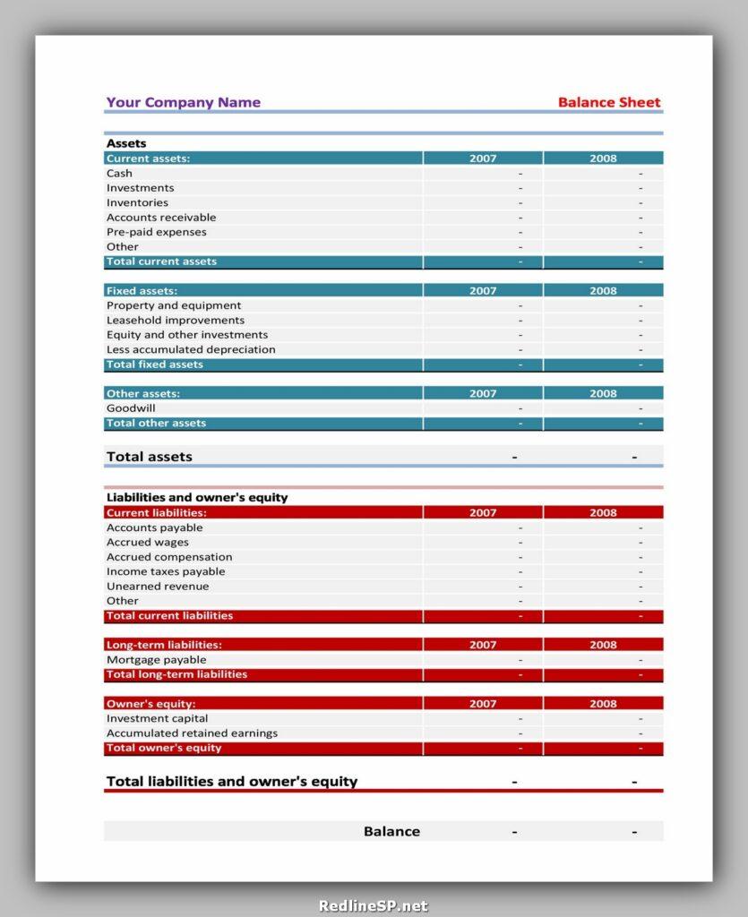 Balance Sheet 07