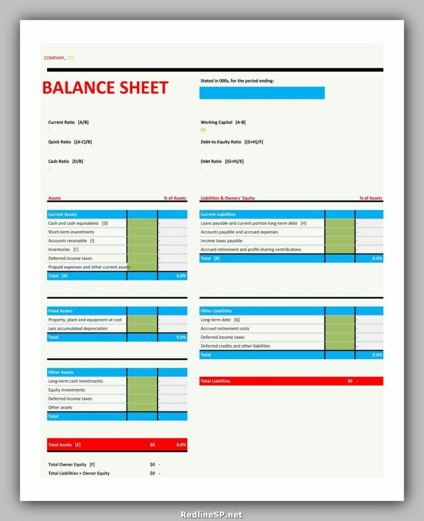 Balance Sheet 08