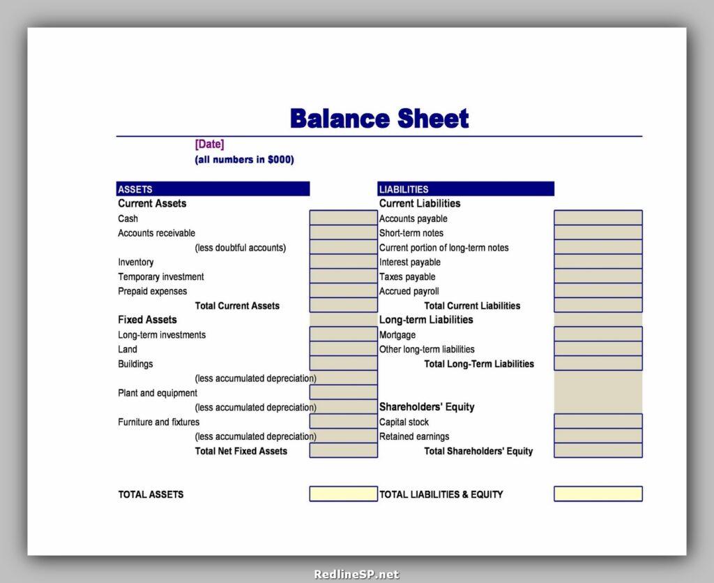 Balance Sheet Example 27