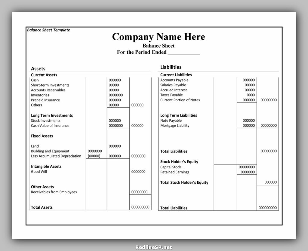Balance Sheet Example 38