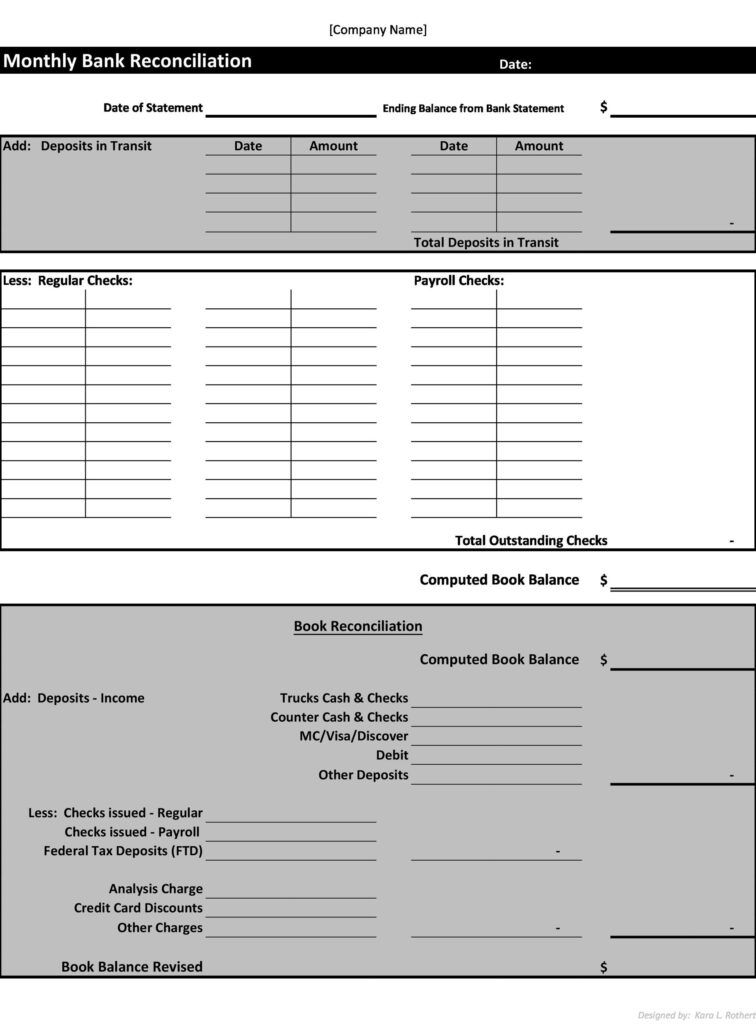 Bank Reconciliation Template 10
