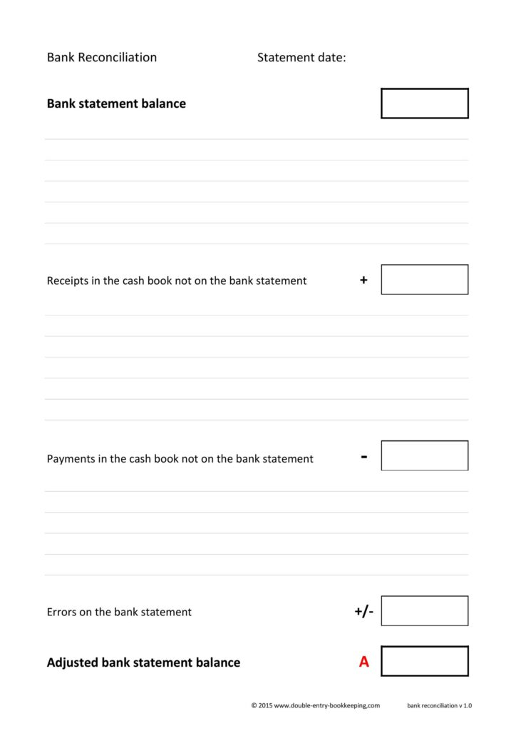 Bank Reconciliation Template 25