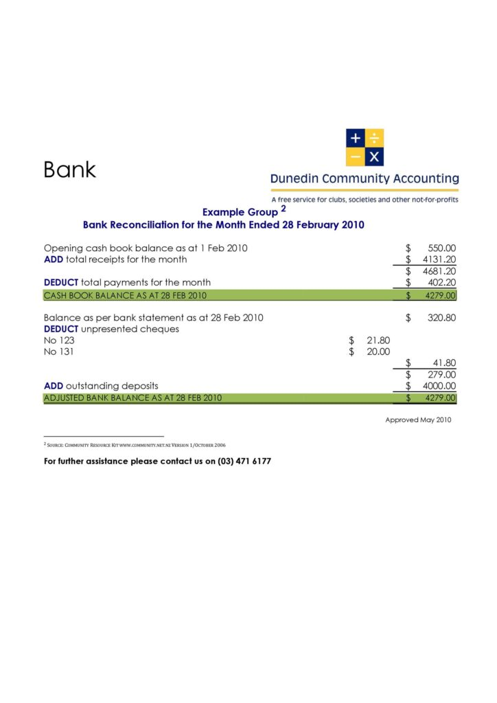 Bank Reconciliation Template 31