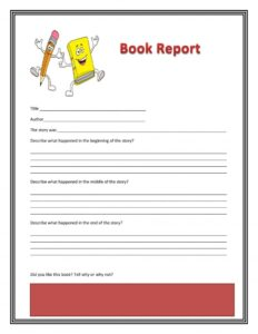 Book Report Example 02