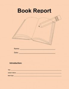 Book Report Example 08