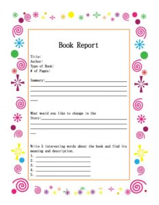 Book Report Example 14