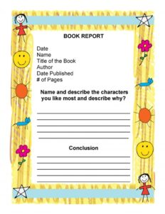 Book Report Example 15