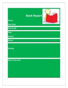 Book Report Example 18