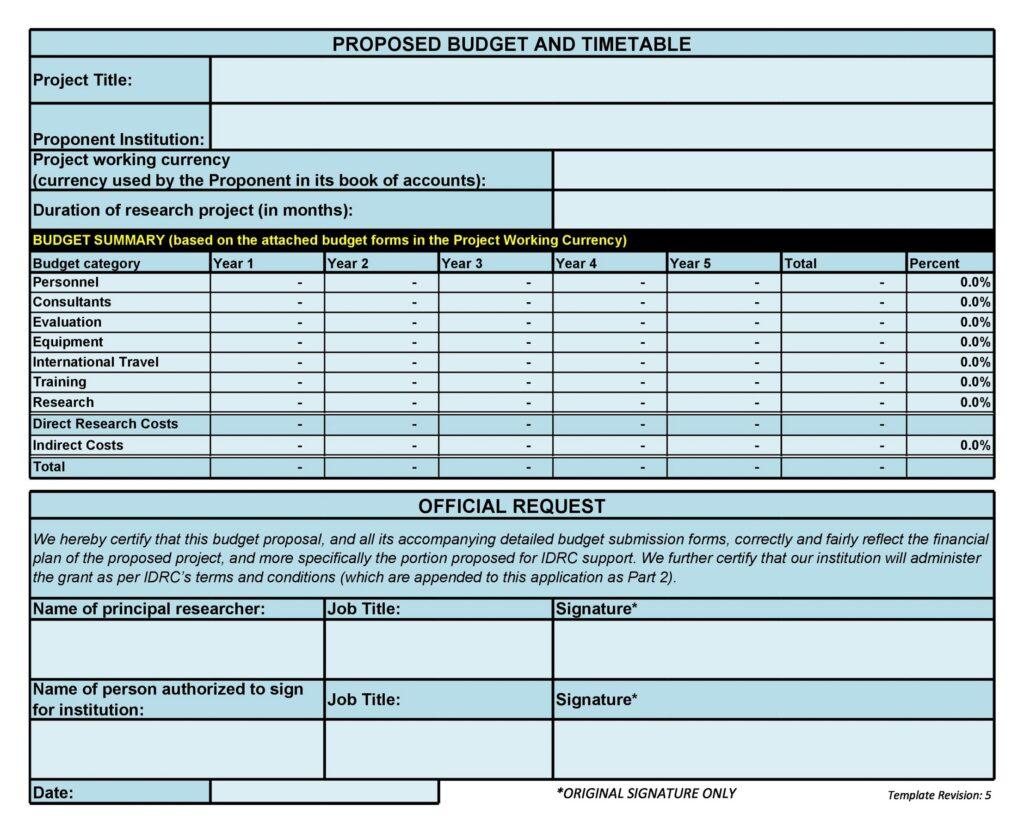 Budget Proposal 09