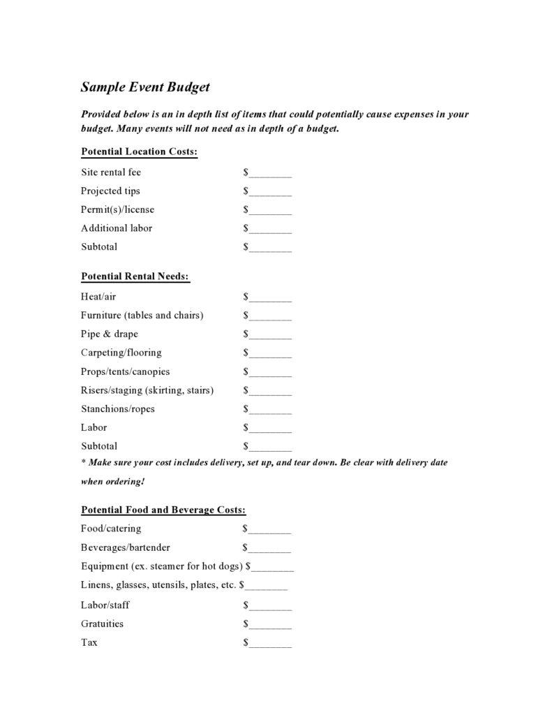 Budget Proposal Sample 19