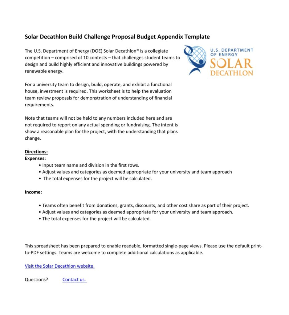 Budget proposal template 11