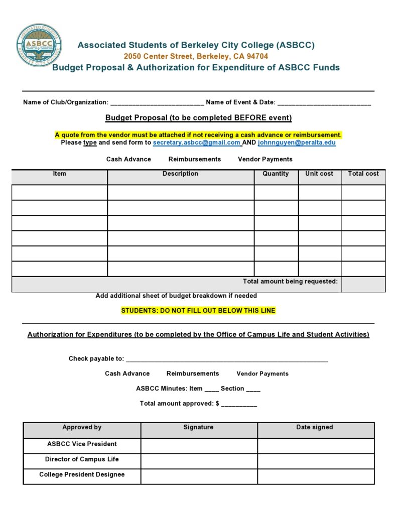 Budget proposal template 25