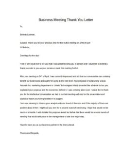 Buiness Thank You Letter 02