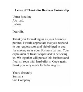 Buiness Thank You Letter 03