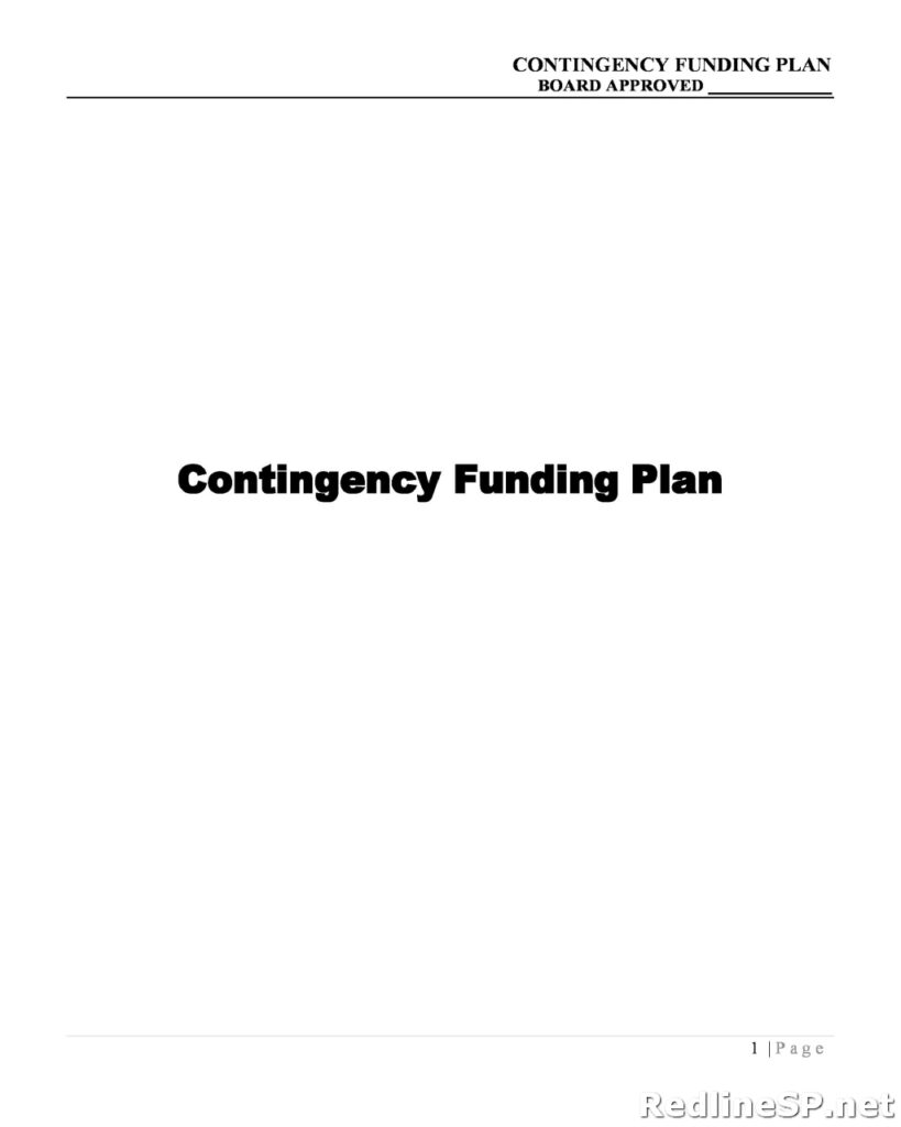 Contingency Plan Example 10
