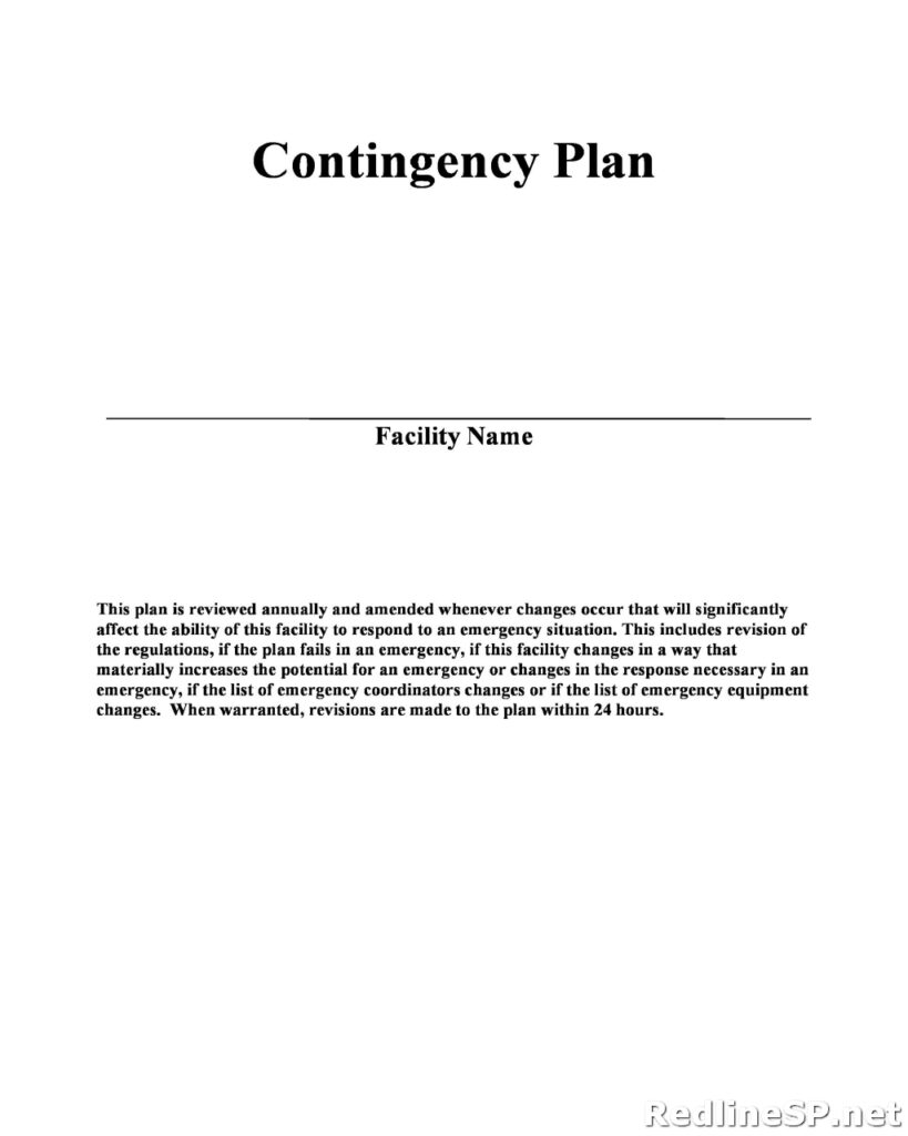 Contingency Plan Example 19