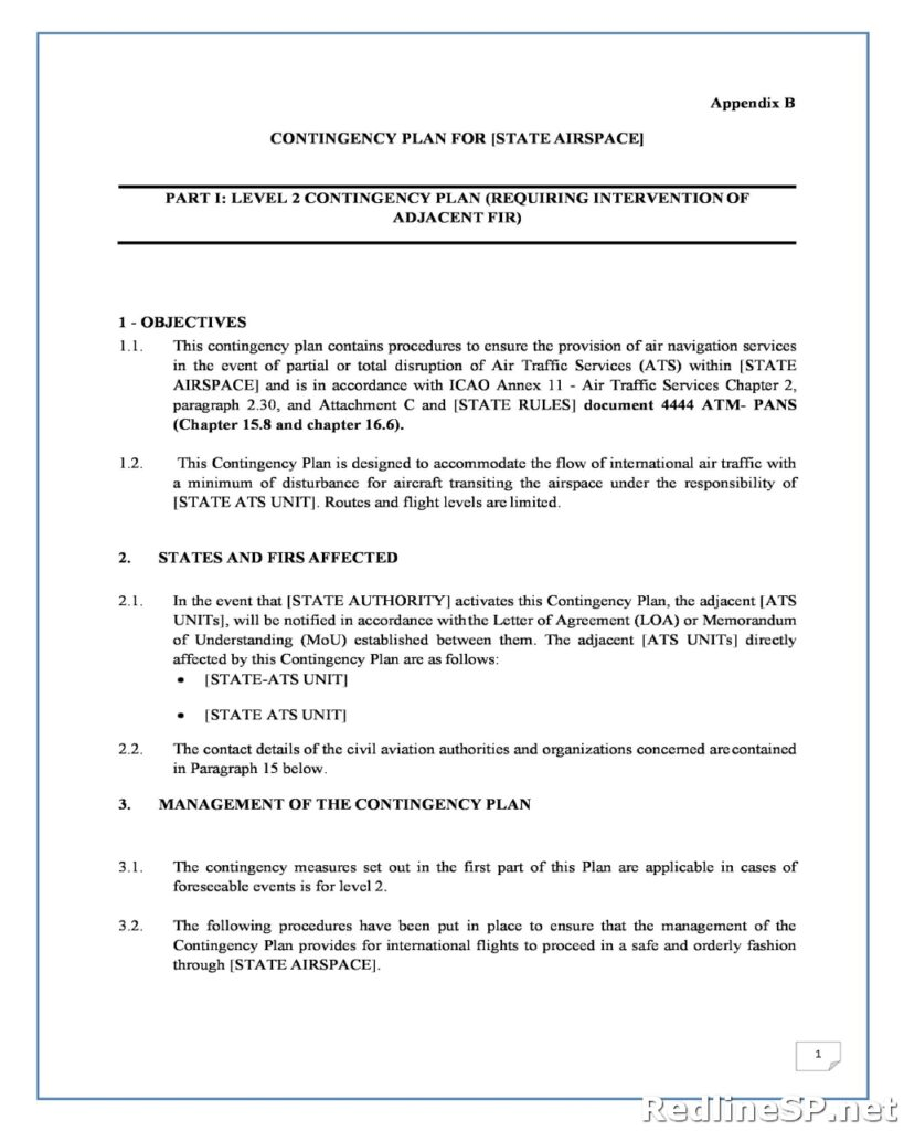Contingency Plan Template 27