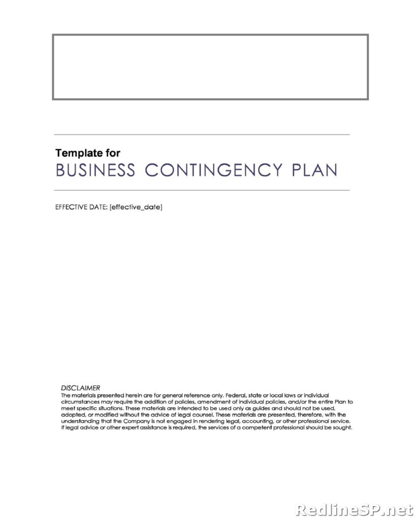 Contingency Plan for Business 24