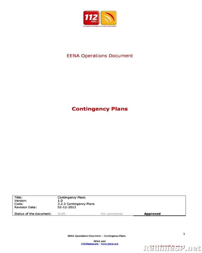 Contingency Plan for Business 37