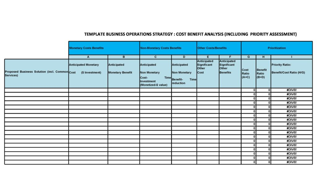 Cost Benefit Analysis Example 13