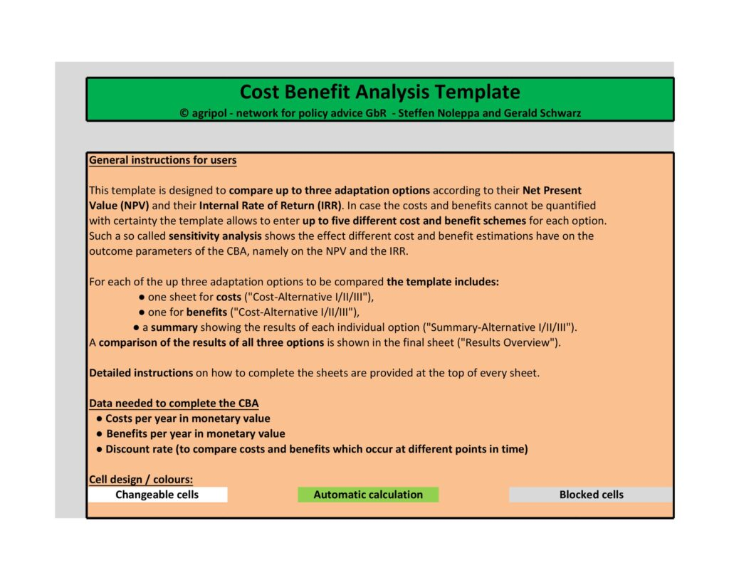 Cost Benefit Analysis Template 38
