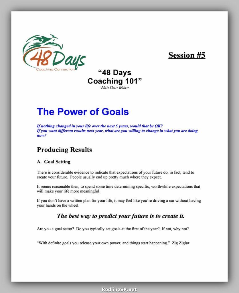 Goal Setting Template 03