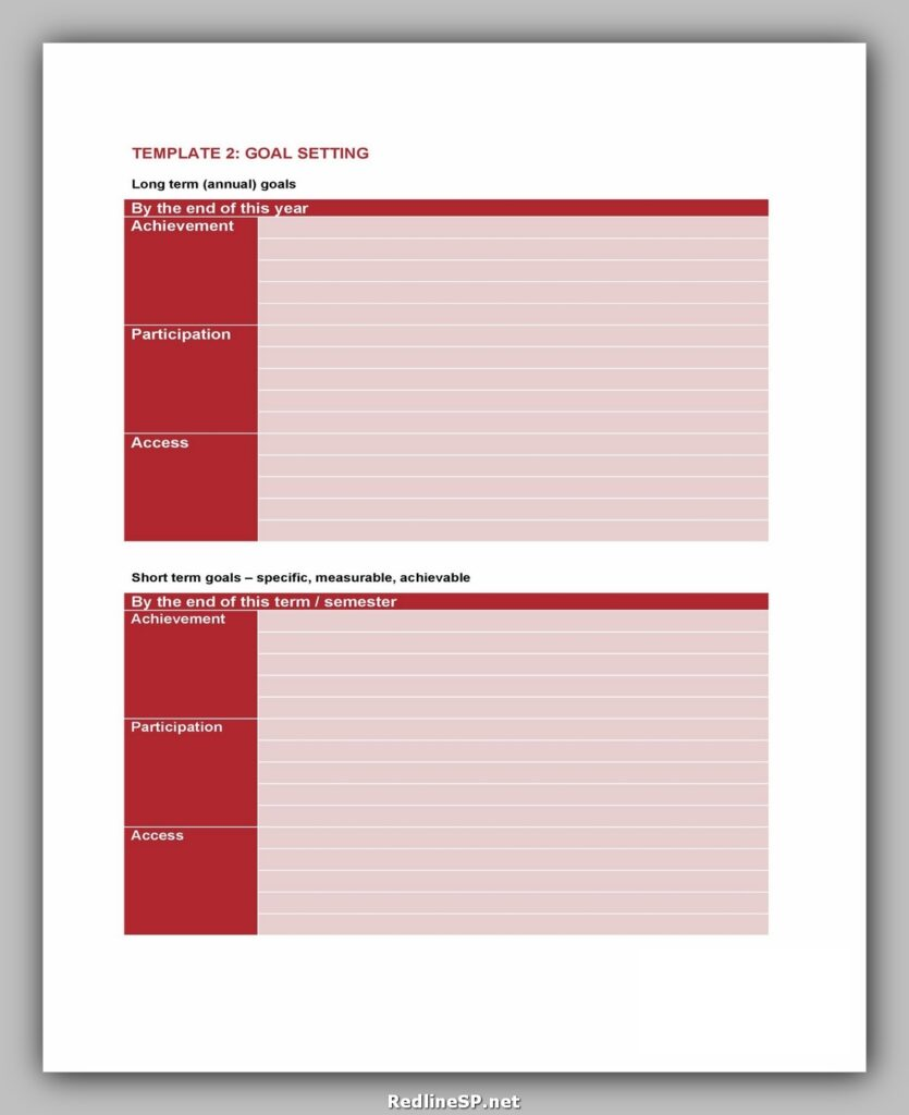 Goal Setting Template Excel 08