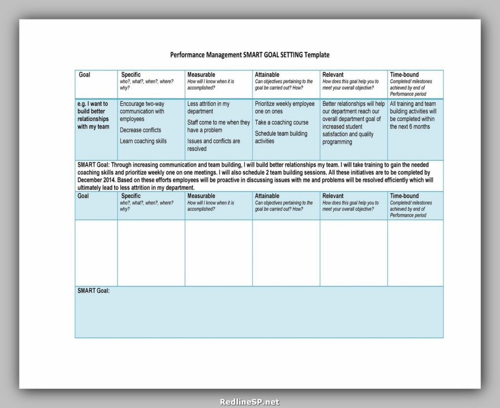 Goal Setting Template Excel 18
