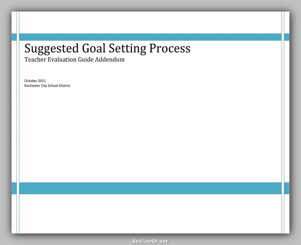 Goal Setting Template Pdf 38