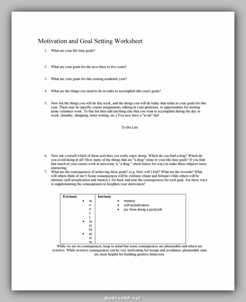 Goal Setting Worksheet 25