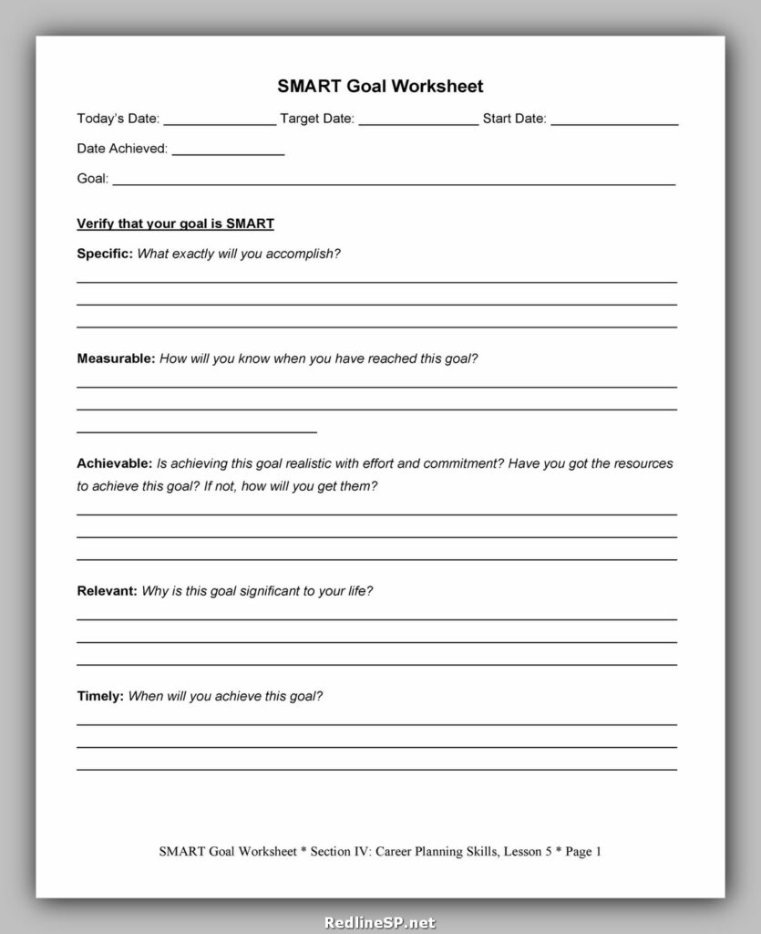 Goal Setting Worksheet 31