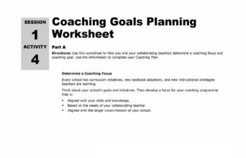 Goal Setting Worksheet Image 21