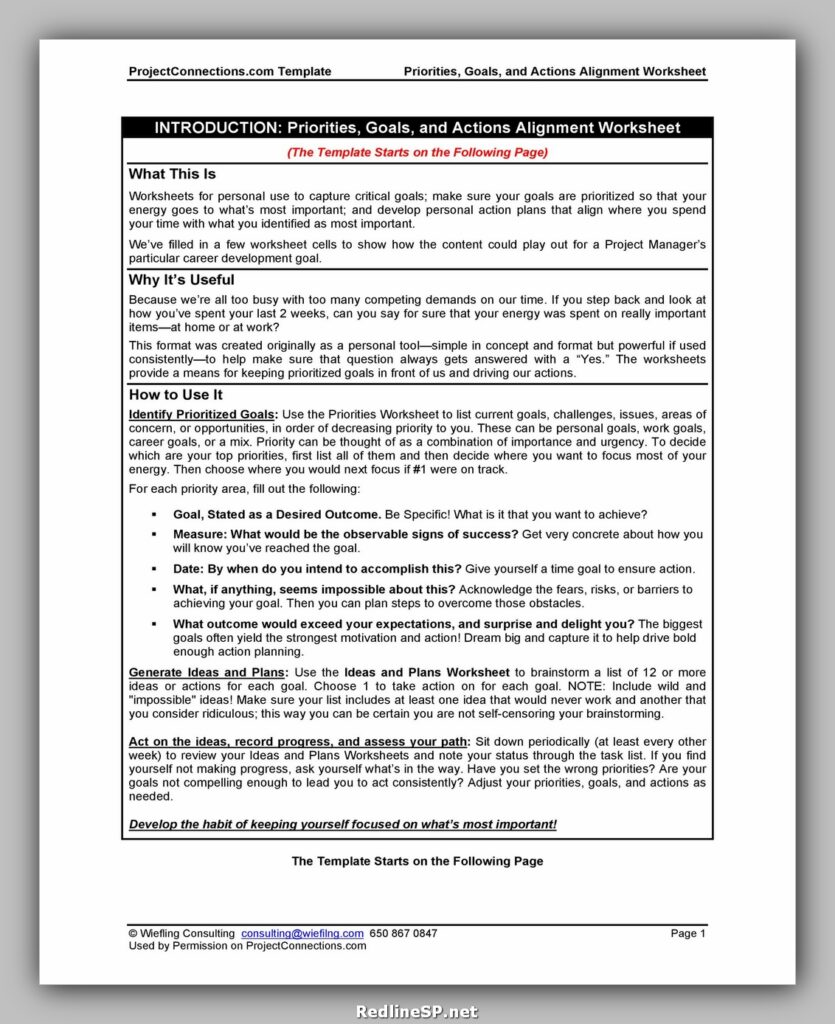 Goal Setting Worksheet Pdf 30
