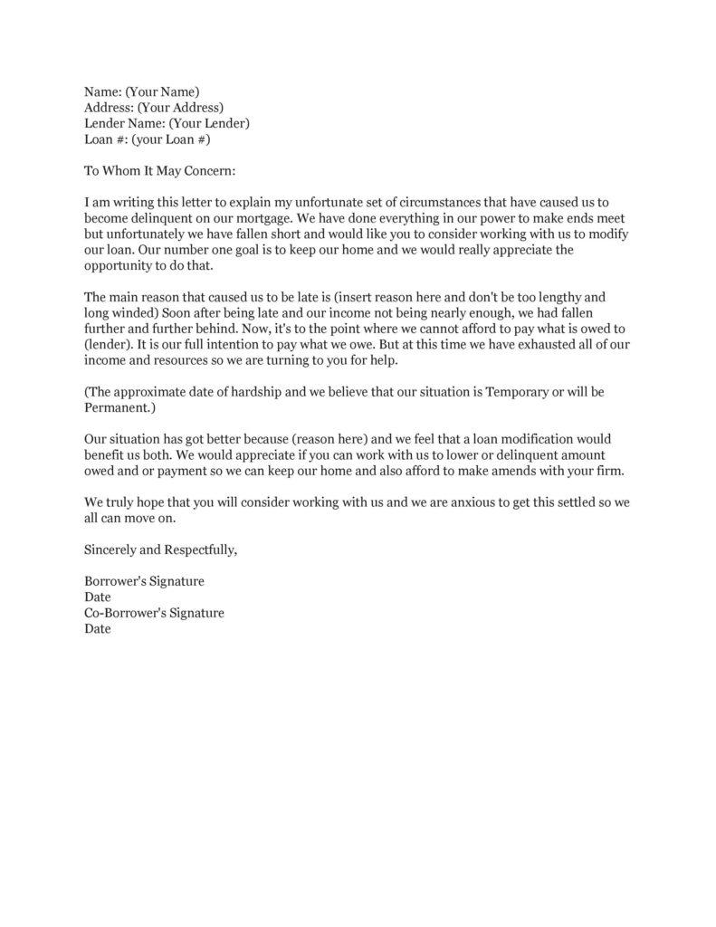 Hardship Letter 06